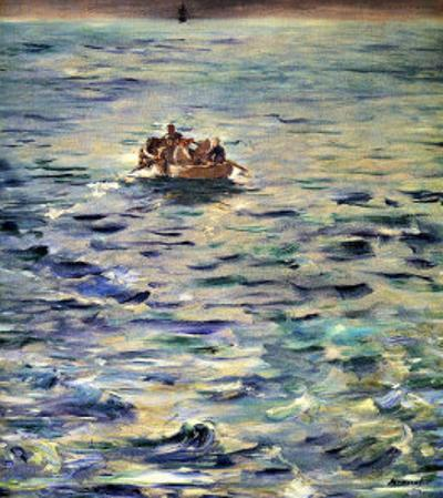 The Escape of Rochefort by Edouard Manet