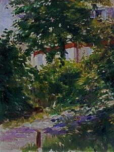 The Garden Around Manet's House in Reuil, France by Edouard Manet