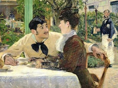 The Garden of Pere Lathuille, 1879 by Edouard Manet
