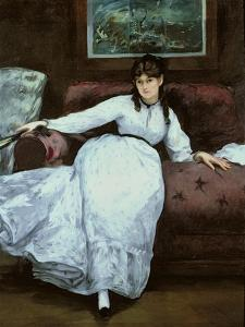 The Rest, Portrait of Berthe Morisot, 1870 by Edouard Manet