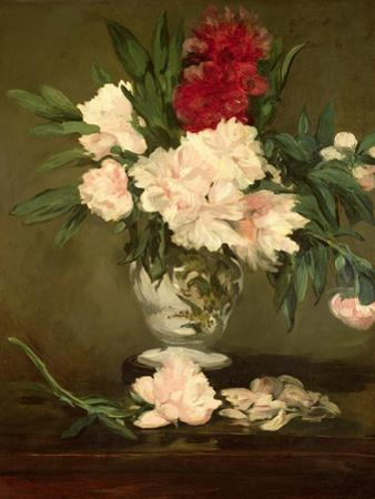 Vase of Peonies on a Small Pedestal, 1864 by Edouard Manet