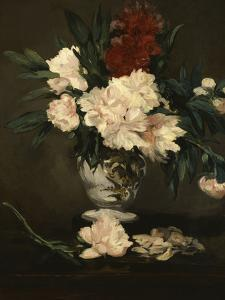 Vase with Peonies on a Pedestal, c.1864 by Edouard Manet