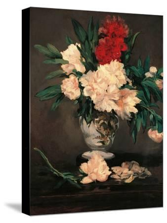 Vase with Peonies on a Pedestal by Edouard Manet