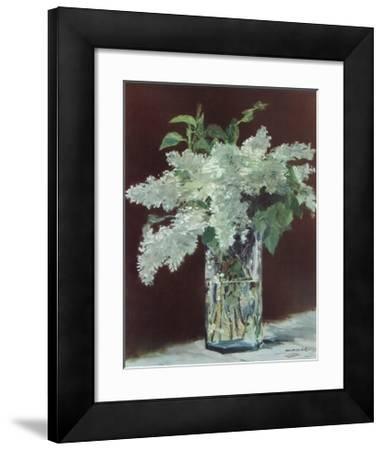 White Lilac in Glass Vase