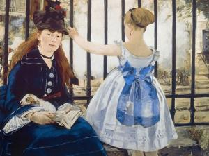 Woman and Girl at St. Lazare Train Station, 1873 by Edouard Manet