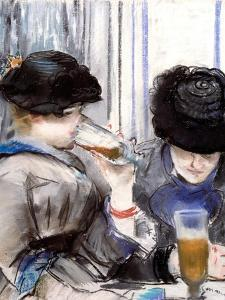 Women Drinking Beer, 1878 by Edouard Manet