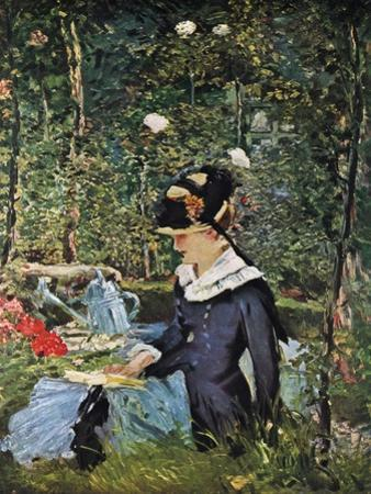 Young Girl on the Threshold of the Garden at Bellevue, 1880 by Edouard Manet