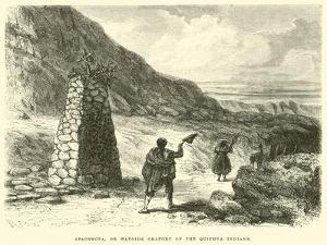 Apachecta, or Wayside Oratory of the Quichua Indians by Édouard Riou