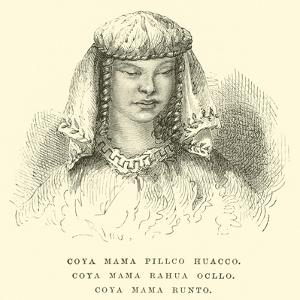 Coya Mama Pillco Huacco, Coya Mama Rahua Ocllo, Coya Mama Runto by Édouard Riou