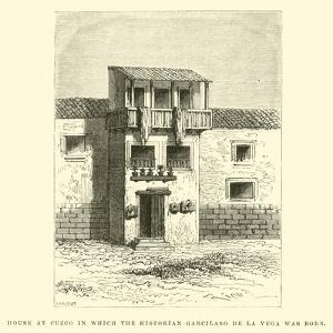 House at Cuzco in Which the Historian Garcilaso De La Vega Was Born by Édouard Riou