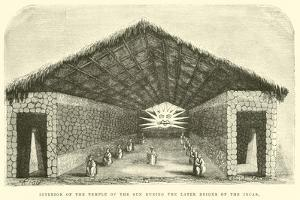 Interior of the Temple of the Sun During the Later Reigns of the Incas by Édouard Riou