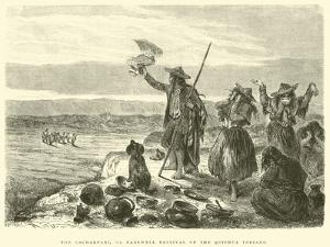 The Cacharpari, or Farewell Festival of the Quichua Indians by Édouard Riou