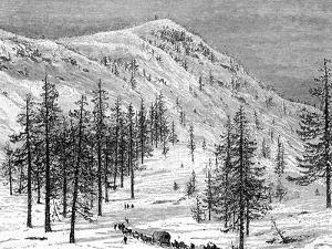 The Sierra Nevada Mountains, USA, 19th Century by Edouard Riou