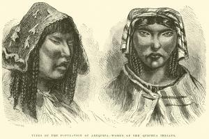 Types of the Population of Arequipa, Women of the Quichua Indians by Édouard Riou