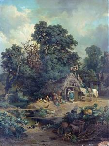 Peasant Landscape by Edouard-Theophile Blanchard