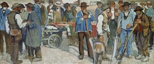 Marketday, Geneva, 1906 by Edouard Vallet