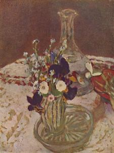 'Bouquet of Pansies, Forget-me-nots, and Daisies (About 1900)', c1900, (1946) by Edouard Vuillard