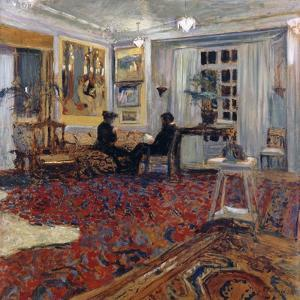 Chat at the Fontaines: Mr and Mrs Arthur Fontaine by Edouard		 Vuillard