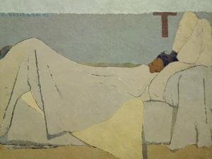 In Bed. 1891 by Edouard Vuillard