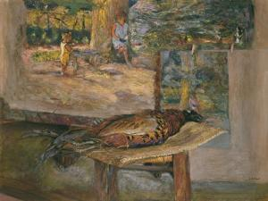 Interior with Paintings and a Pheasant, 1928 by Edouard Vuillard