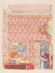 Interior with Pink Wallpaper I, from the series Paysages et Intérieurs, 1899 by Edouard Vuillard