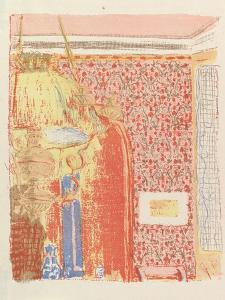 Interior with Pink Wallpaper II, from the series Landscapes and Interiors, 1899 by Edouard Vuillard