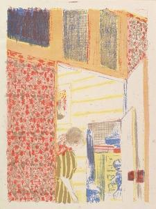 Interior with Pink Wallpaper III, from the series Landscapes and Interiors, 1899 by Edouard Vuillard