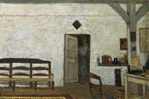 Misia in Villeneuve-Sur-Yonne by Edouard Vuillard