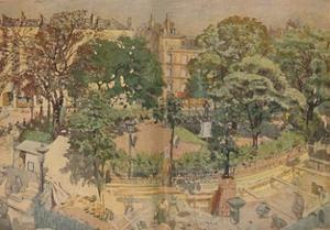 'Place Vintimille, seen from the painter's window (1917)', 1917, (1946) by Edouard Vuillard