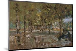 Reading Beneath the Trees at Amfreville; Le Lecture Sous Les Arbres Amfreville by Edouard Vuillard
