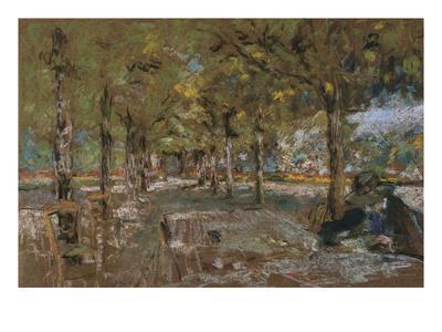 Reading Beneath the Trees at Amfreville; Le Lecture Sous Les Arbres Amfreville
