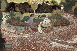 Repast in a Garden by Edouard Vuillard