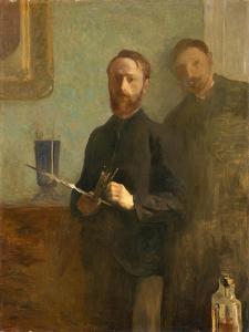 Self-Portrait with Waroquy, 1889 by Edouard Vuillard