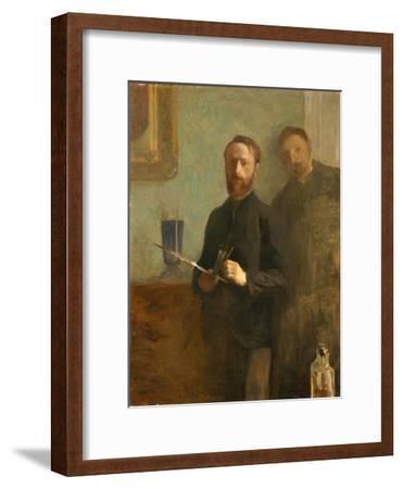 Self-Portrait with Waroquy, 1889