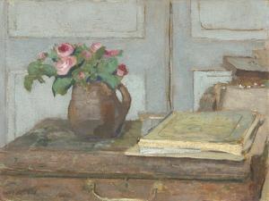 The Artist's Paint Box and Moss Roses, 1898 by Edouard Vuillard