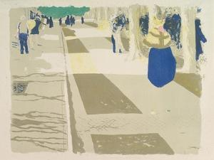 The Avenue, from the series Landscapes and Interiors, 1899 by Edouard Vuillard