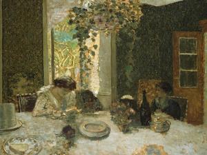 The Dining Room; La Salle a Manger by Edouard Vuillard
