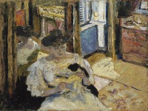 The Dressing-Room, Madame Hessel Reading at Amfréville, 1906 by Edouard Vuillard