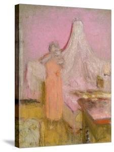 The Morning Cup of Tea. La Tasse De the Du Matin by Edouard Vuillard