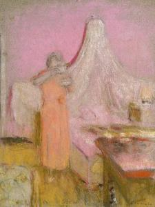The Morning Cup of Tea. La Tasse De the Du Matin by Edouard Vuillard
