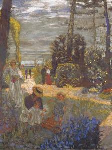 The Terrace at Vasouy, the Garden, 1901 by Édouard Vuillard