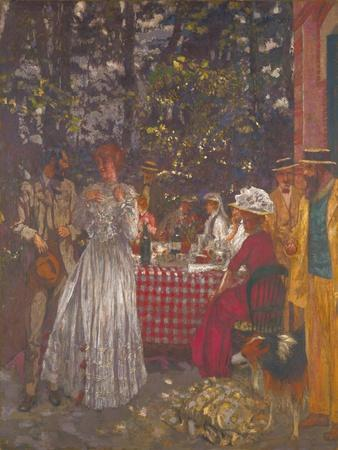 The Terrace at Vasouy, the Lunch, 1901