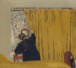 The Yellow Curtain, c.1893 by Edouard Vuillard
