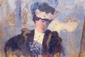 Madame Hessel Wearing a Hat Decorated with Flowers, C.1905 by Eduard Fuchs
