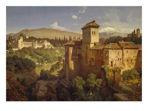 The Generalife Palace, Granda, 1862 by Eduard Gerhardt