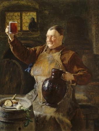 Master Brewer at Mealtime in the Cellar of the Cloister, 1892 by Eduard Grützner