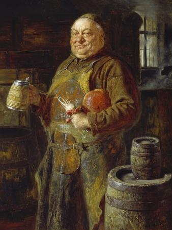 Monk in the Cloister Brewery with Beer Stein as Well as White and Red Radishes, 1889
