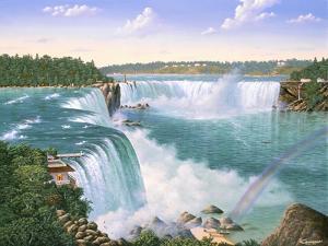 Niagara Falls In 1860 by Eduardo Camoes