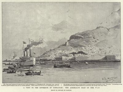 A Visit to the Governor of Gibraltar, the Admiralty Boat on Her Way