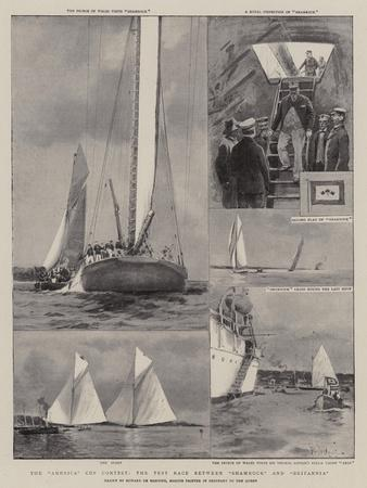The America Cup Contest, the Test Race Between Shamrock and Britannia